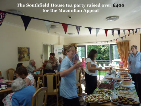 The Southfield House tea party raised over £ 400 for the Macmillan Appeal
